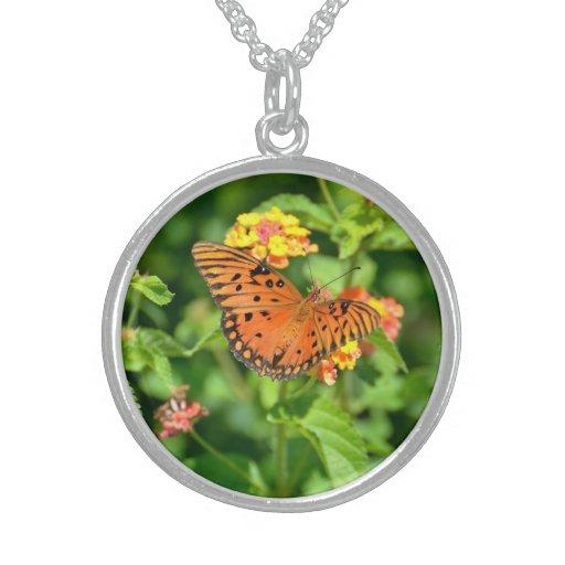 Gulf Fritillary Butterfly Necklace