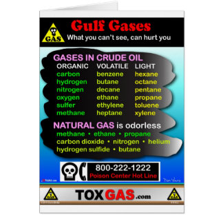 Gulf Gases Greeting Card