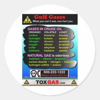 Gulf Gases Round Sticker