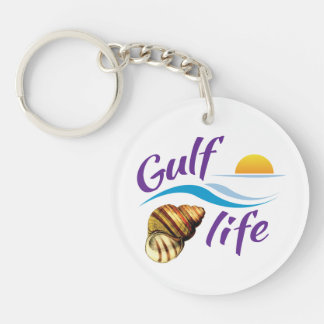 Gulf (of Mexico) Life Round Keychain