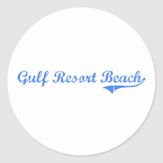 Gulf Resort Beach Florida Classic Design Stickers