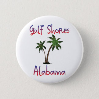 Gulf Shores Alabama 6 Cm Round Badge