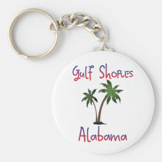 Gulf Shores Alabama Basic Round Button Key Ring