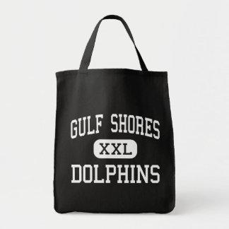 Gulf Shores - Dolphins - High - Gulf Shores Canvas Bags
