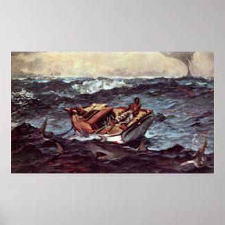Gulf Stream by Winslow Homer Poster