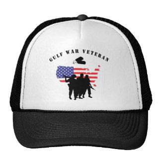 Gulf War Veteran Trucker Hats
