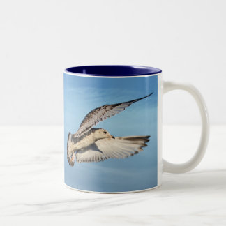 Gull in Flight Two-Tone Coffee Mug