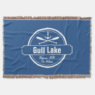 Gull Lake Minnesota anchor, paddles town and name