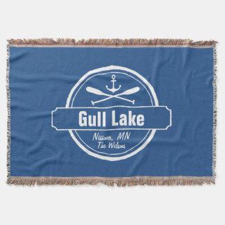 Gull Lake Minnesota anchor, paddles town and name Throw Blanket