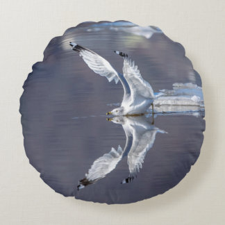 Gull Reflections Round Cushion