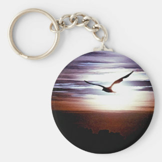 Gull Sunset Keychain
