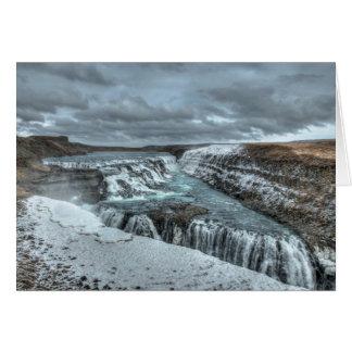 Gullfoss Waterfall, Iceland Card