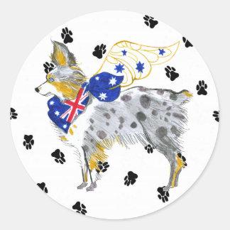 Gulliver's  Angels Australian Shepherd Sticker