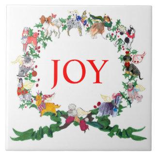 Gullivers Angels Ceramic Holiday Tile Trivet v.2