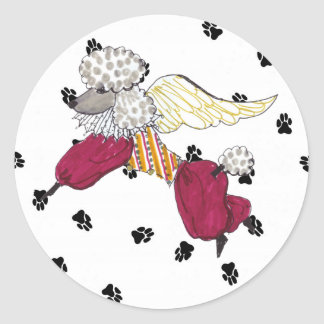 Gulliver's Angels Poodle Sticker