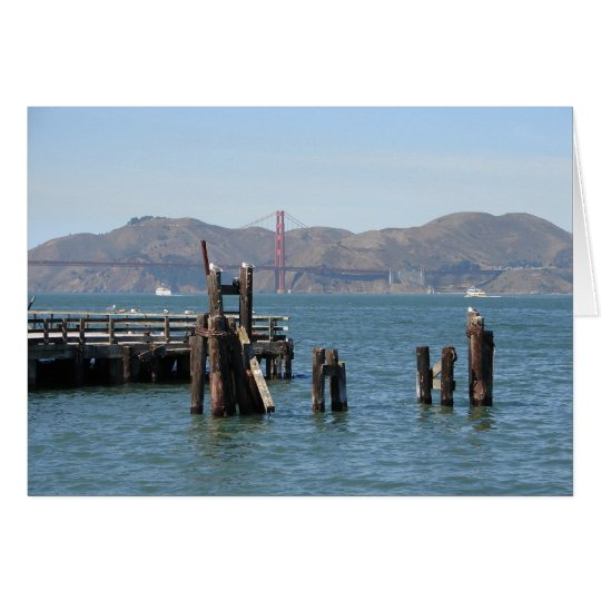 Gulls at San Francisco Bay Pier Card