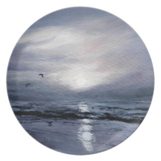 Gulls at Sundown Party Plate