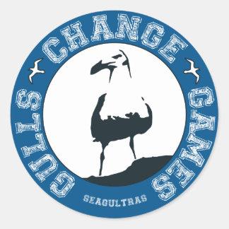 "Gulls Change Games 3"" stickers (sheet of 6)"