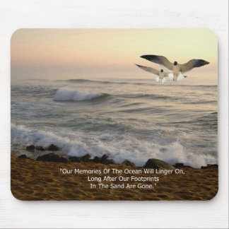 GULLS & OCEAN QUOTE MOUSE PAD
