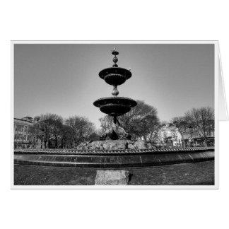 Gulls on a Fountain Card