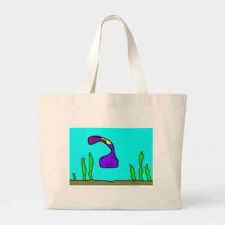 gulosa earthworm of the sea large tote bag