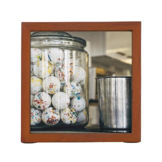 Gum Balls and Glass Jars Desk Organisers