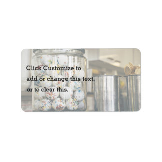Gum Balls and Glass Jars Address Label