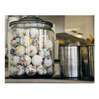 Gum Balls and Glass Jars Postcard