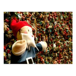 Gum Wall Gnome II Postcard