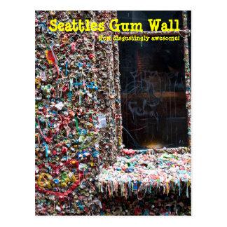 Gum Wall Seattle Postcard