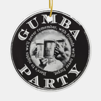 Gumba Party -Black Logo Ceramic Ornament