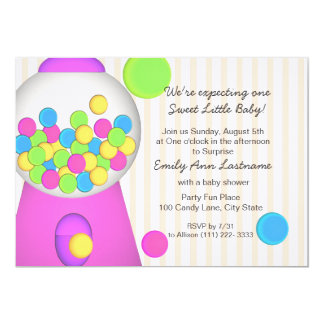 Gumball Baby Shower Card