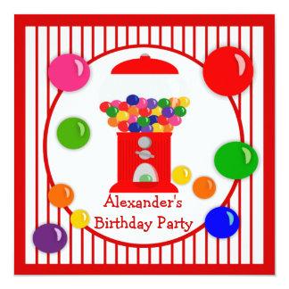 Gumball Machine Children's Birthday Invitations