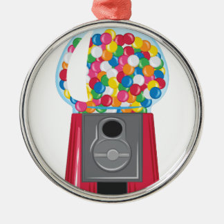 Gumball Machine Metal Ornament