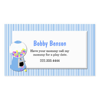 Gumball Machine Play Date Card Pack Of Standard Business Cards