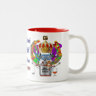 Gumbo King Mardi Gras View Hints please Two-Tone Coffee Mug