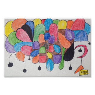gumdrops drawing colors abstract black drops poster