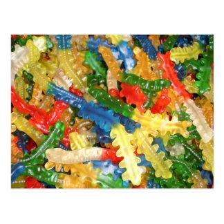 Gummi Centipedes Candy Postcard