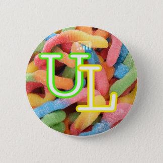 gummi worm$ 6 cm round badge