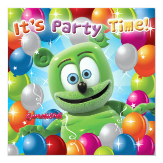 Gummibär (The Gummy Bear) Party Invitation
