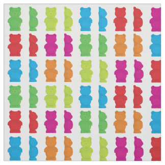 Gummy Bear candy patterned fabric
