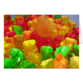 Gummy Bear Crowd Blank Card