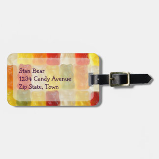gummy bear luggage tag