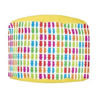 Gummy Bear patterned Pouf