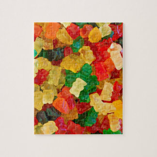 Gummy Bear Rainbow Colored Candy Puzzles