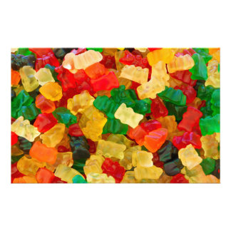 Gummy Bear Rainbow Colored Candy Personalized Stationery