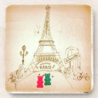 Gummy Bear Romance in Paris Coasters