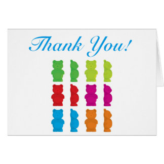 Gummy bear thank you card