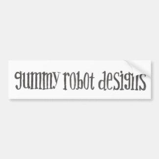 Gummy Robot Designs logo bumper sticker