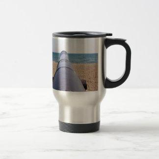 gun aiming to goal and success coffee mugs